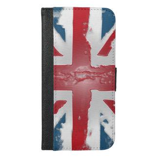 英国国旗のイギリスの旗の抽象芸術のワックスの芸術 iPhone 6/6S PLUS ウォレットケース