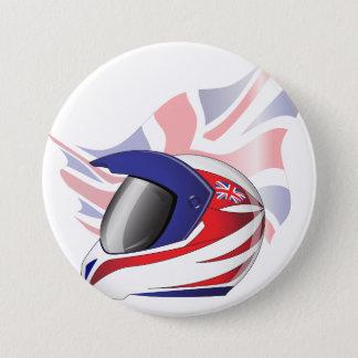 英国国旗のオートバイのヘルメットボタン 7.6CM 丸型バッジ