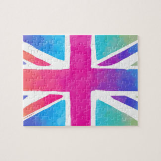 英国国旗のカラフルな旗 ジグソーパズル