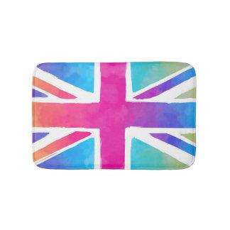 英国国旗のカラフルな旗 バスマット