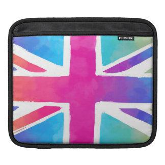 英国国旗のカラフルな旗 iPadスリーブ