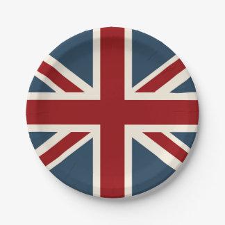 英国国旗のクラシックな旗 ペーパープレート