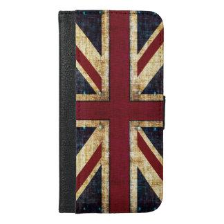 英国国旗のグランジな旗 iPhone 6/6S PLUS ウォレットケース