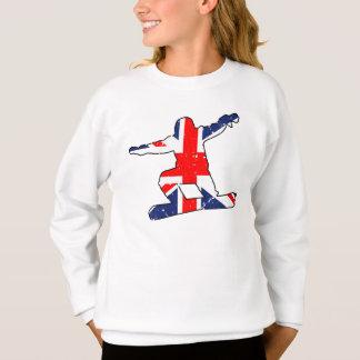 英国国旗のスノーボーダー(blk) スウェットシャツ