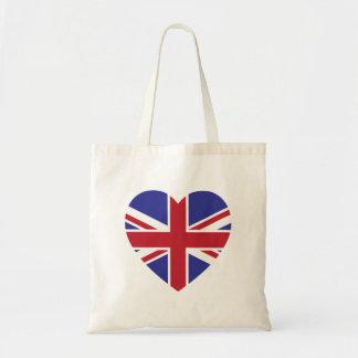 英国国旗のハートのトートバック トートバッグ