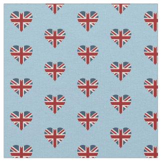 英国国旗のハート形の旗 ファブリック