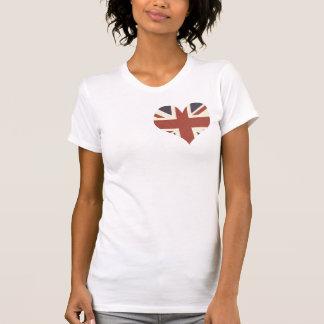 英国国旗のハート Tシャツ