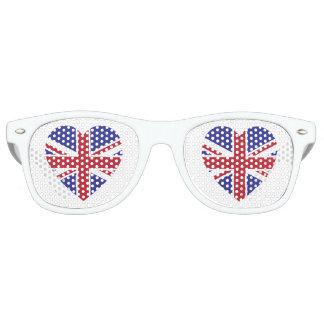 英国国旗のパーティーの陰 レトロサングラス
