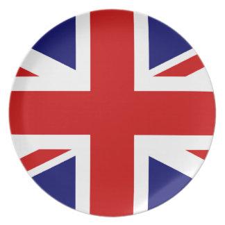 英国国旗のプレート プレート