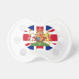 英国国旗のベビーの調停者紋章付き外衣 おしゃぶり