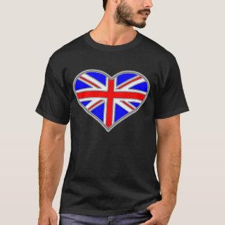 英国国旗のワイシャツを愛して下さい Tシャツ