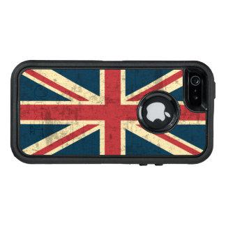 英国国旗のヴィンテージのイギリスの旗 オッターボックスディフェンダーiPhoneケース