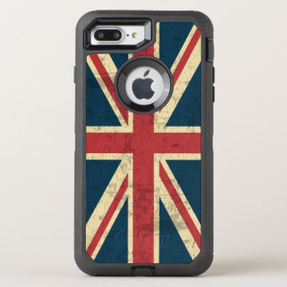 英国国旗のヴィンテージのイギリスの旗 オッターボックスディフェンダーiPhone 8 PLUS/7 PLUSケース