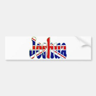 英国国旗の切り出しジョシュア バンパーステッカー