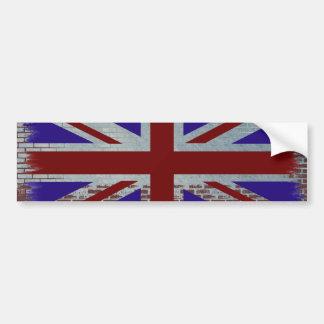 英国国旗の動揺してなバンパーステッカー バンパーステッカー