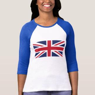英国国旗の女性のRaglanのTシャツ Tシャツ