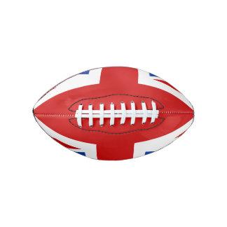 英国国旗の小型フットボール アメリカンフットボール