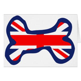 英国国旗の旗の犬用の骨の芸術 カード