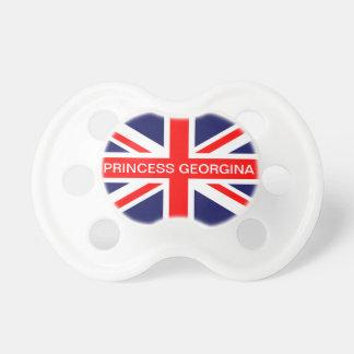 英国国旗の旗の王室のなベビーの名前をカスタムするの調停者 おしゃぶり