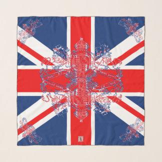 英国国旗の旗の英国国旗のライオンのユニコーンの紋章 スカーフ