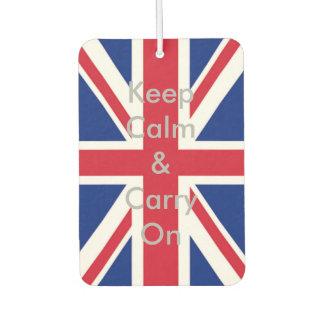 英国国旗の旗は平静を保ち、続けていきます カーエアーフレッシュナー