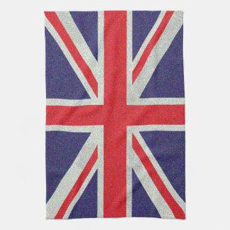 英国国旗の旗斑入りの汚いイギリス キッチンタオル