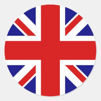 英国国旗の旗 ラウンドシール