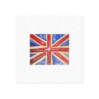 英国国旗の液体の旗 キャンバスプリント