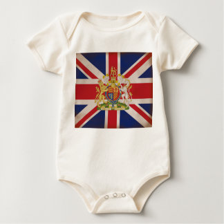 英国国旗の王室のな頂上 ベビーボディスーツ
