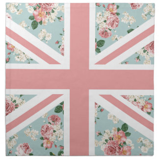 英国国旗の英国のバラパターン ナプキンクロス