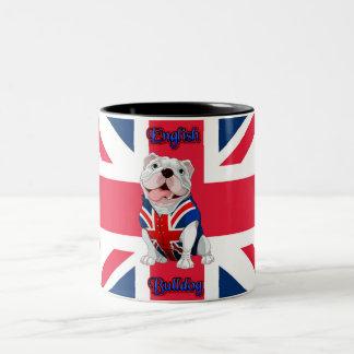 英国国旗の英国のブルドッグ ツートーンマグカップ