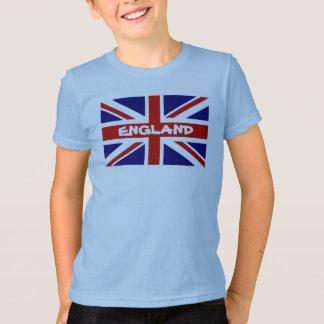 英国国旗の英国の旗が付いている子供のTシャツ Tシャツ