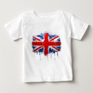 英国国旗の落書き ベビーTシャツ