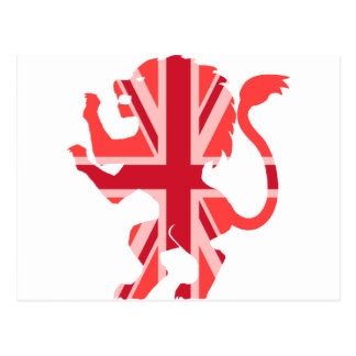 英国国旗の赤いライオン ポストカード