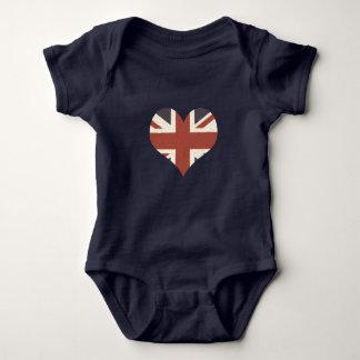 英国国旗の赤ん坊のボディスーツ ベビーボディスーツ