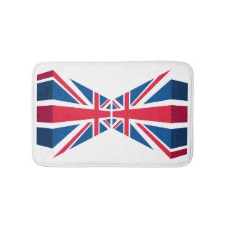 英国国旗の3Dのイギリスの旗 バスマット
