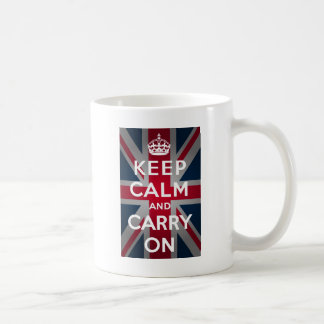 英国国旗のKeep Calm and Carry On コーヒーマグカップ