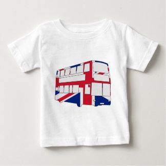 英国国旗のTシャツおよびギフトが付いているロンドンバス ベビーTシャツ