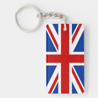 英国国旗アクリルのKeychain (味方される選抜して下さい) 長方形(片面)アクリル製キーホルダー