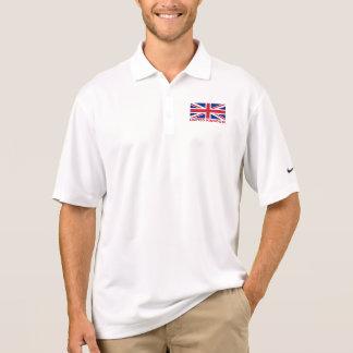 英国国旗イギリスの旗の赤の文字 ポロシャツ