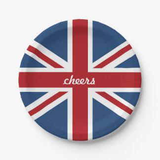 英国国旗クラシックなイギリスの旗 ペーパープレート