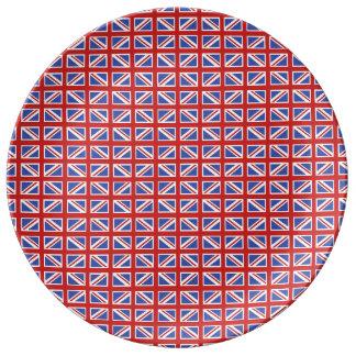 英国国旗パターン 磁器プレート
