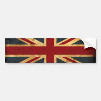 英国国旗汚されたイギリスの旗 バンパーステッカー
