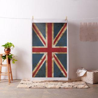 英国国旗汚されたグランジなイギリスの旗 ファブリック
