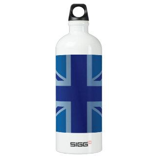 英国国旗金属青くクラシックなイギリス(イギリス)の旗 ウォーターボトル