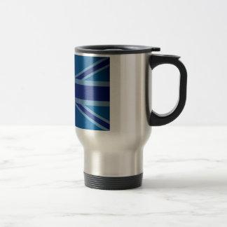 英国国旗金属青くクラシックなイギリス(イギリス)の旗 トラベルマグ