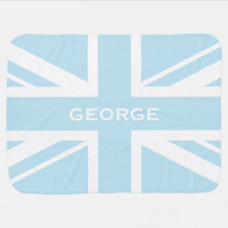 英国国旗|の男の赤ちゃんの青 ベビー ブランケット