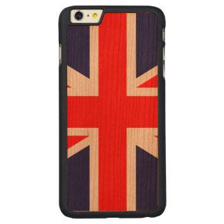 英国国旗-イギリスの旗 CarvedチェリーiPhone 6 PLUSスリムケース