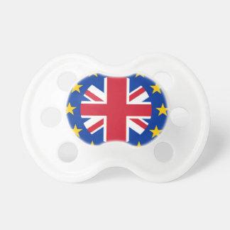 英国国旗- EUは印を付けます おしゃぶり