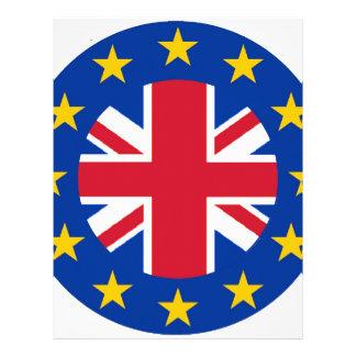 英国国旗- EUは印を付けます レターヘッド